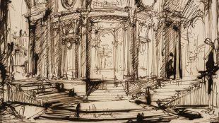 Detail of Interior of a circular building, Giovanni Battista Piranesi