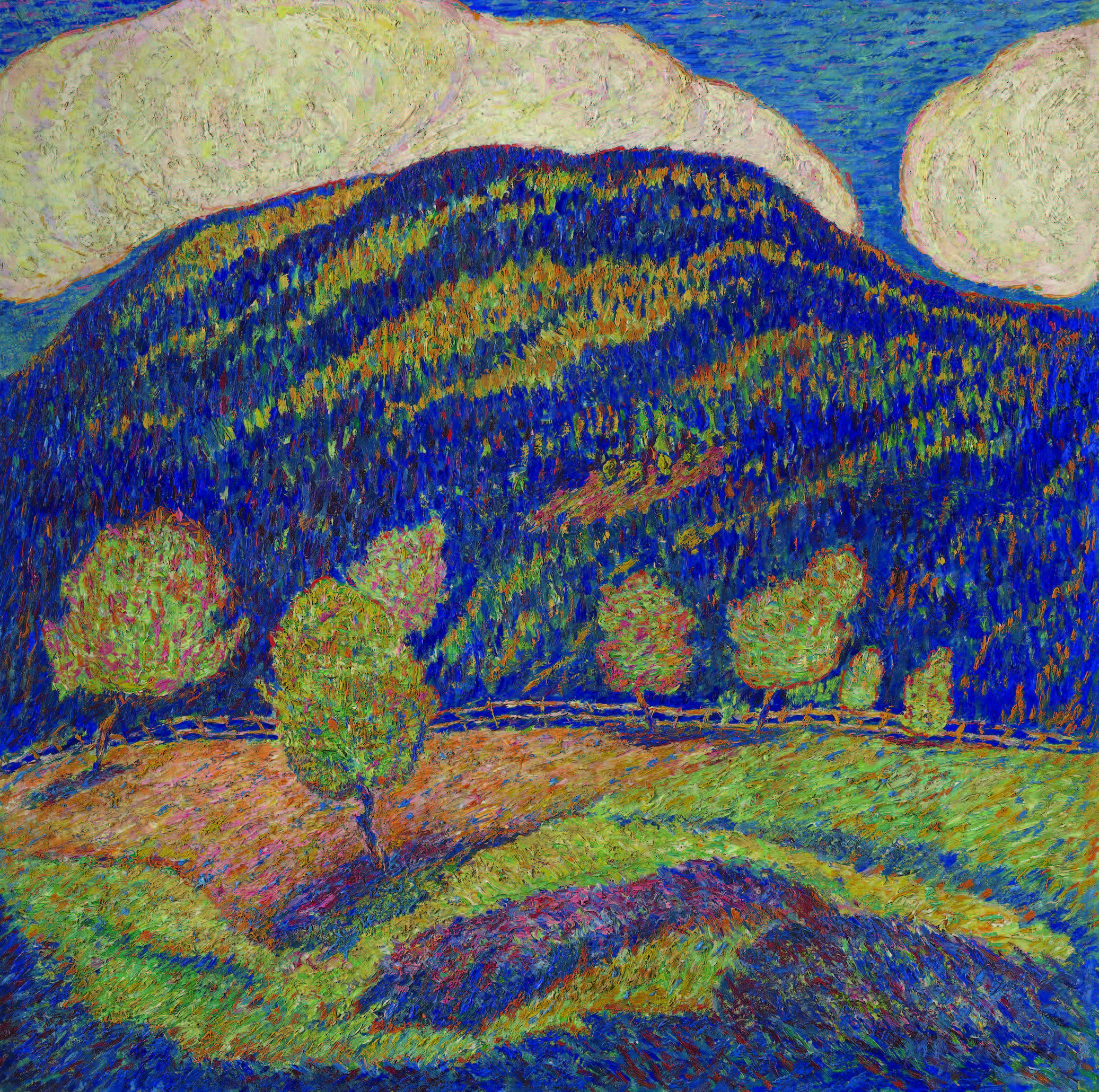 Marsden Hartley (1877–1943), Silence of High Noon — Midsummer, ca. 1907–8. Oil on canvas, 30 ½ × 30 ½ in. (77.5 × 77.5 cm). The Jan T. and Marica Vilcek Collection.