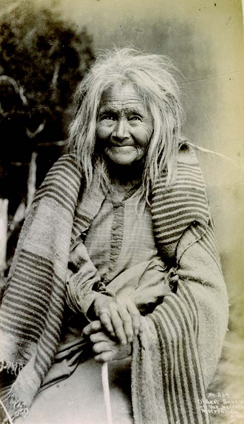 Oldest woman on Mescalero Apache Reservation, New Mexico, 1886–88. Photograph by J. R. Riddle, Palace of the Governors Photo Archives (NMHM/DCA), Neg. No. 076161.