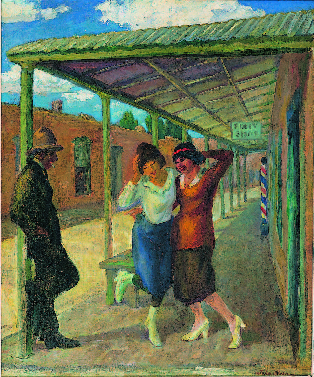 John Sloan, Under the Old Portal (Old Portale, Santa Fe), 1919 (reworked 1945). Oil on canvas, 24 × 20 in. Collection of the New Mexico Museum of Art. Gift of Julius Gans, 1946 (22.23P). © 2016 Delaware Art Museum/Artists Rights Society (ARS) New York. Photograph by Blair Clark.