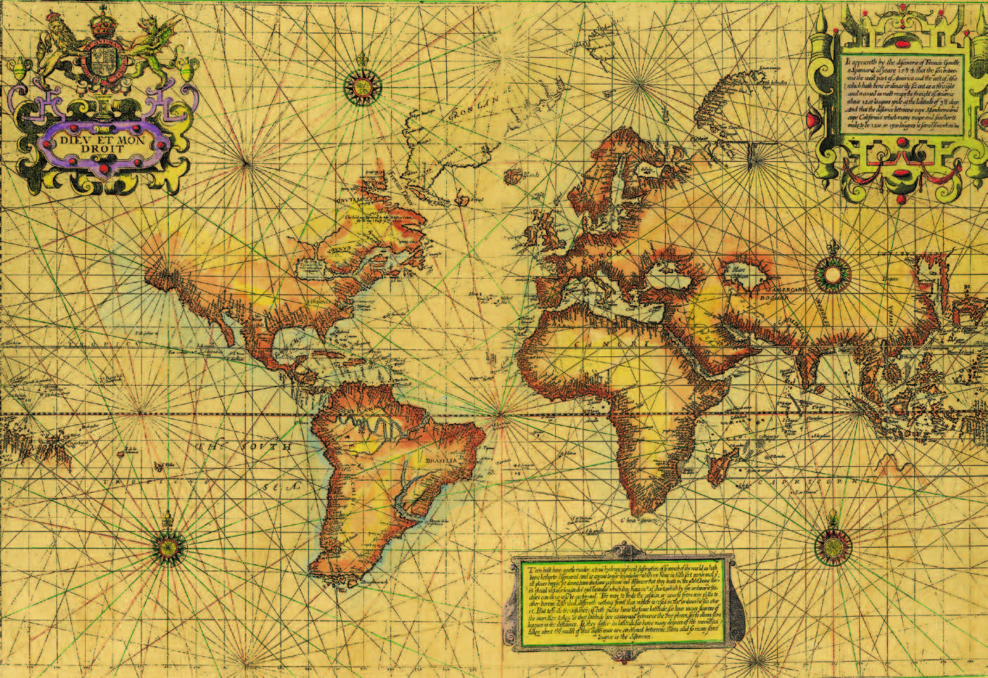 """""""New map"""" mentioned in Shakespeare's Twelfth Night, ca. 1600 (1.0 1600)."""