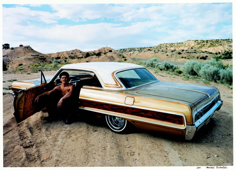 Meridel Rubenstein, Benino Martinez, '64 Chevy, Chimayó, New Mexico, 1980. Courtesy of the artist