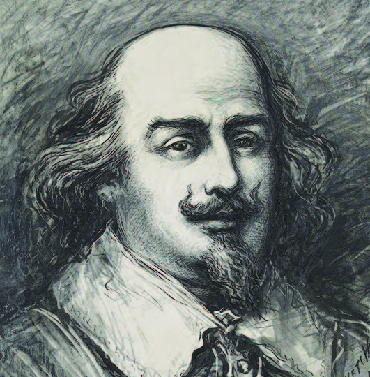 Thomas Nast, Portrait of Shakespeare, late nineteenth century. Drawing