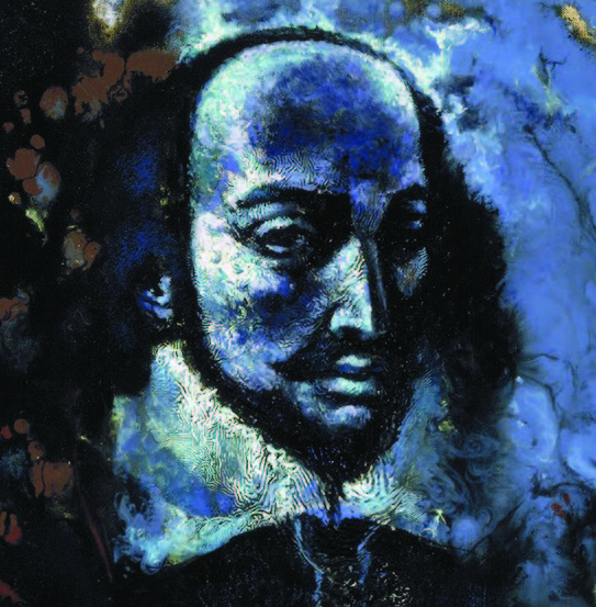 Umberto Romano, Shakespeare Recites Shakespeare (detail), ca. 1960s. Oil on canvas.