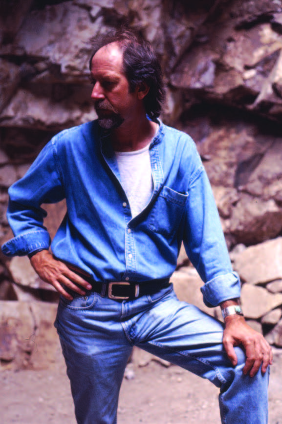 Douglas Magnus at the Cerrillos mines, ca. 1989. Photograph courtesy of Douglas Magnus.
