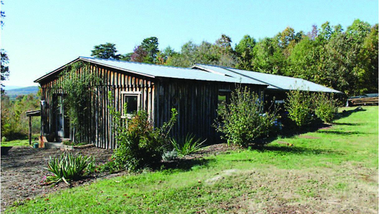 Kim Ellington's workshop and kiln shed. Vale, North Carolina, 2014. Photograph courtesy of Kim Ellington.