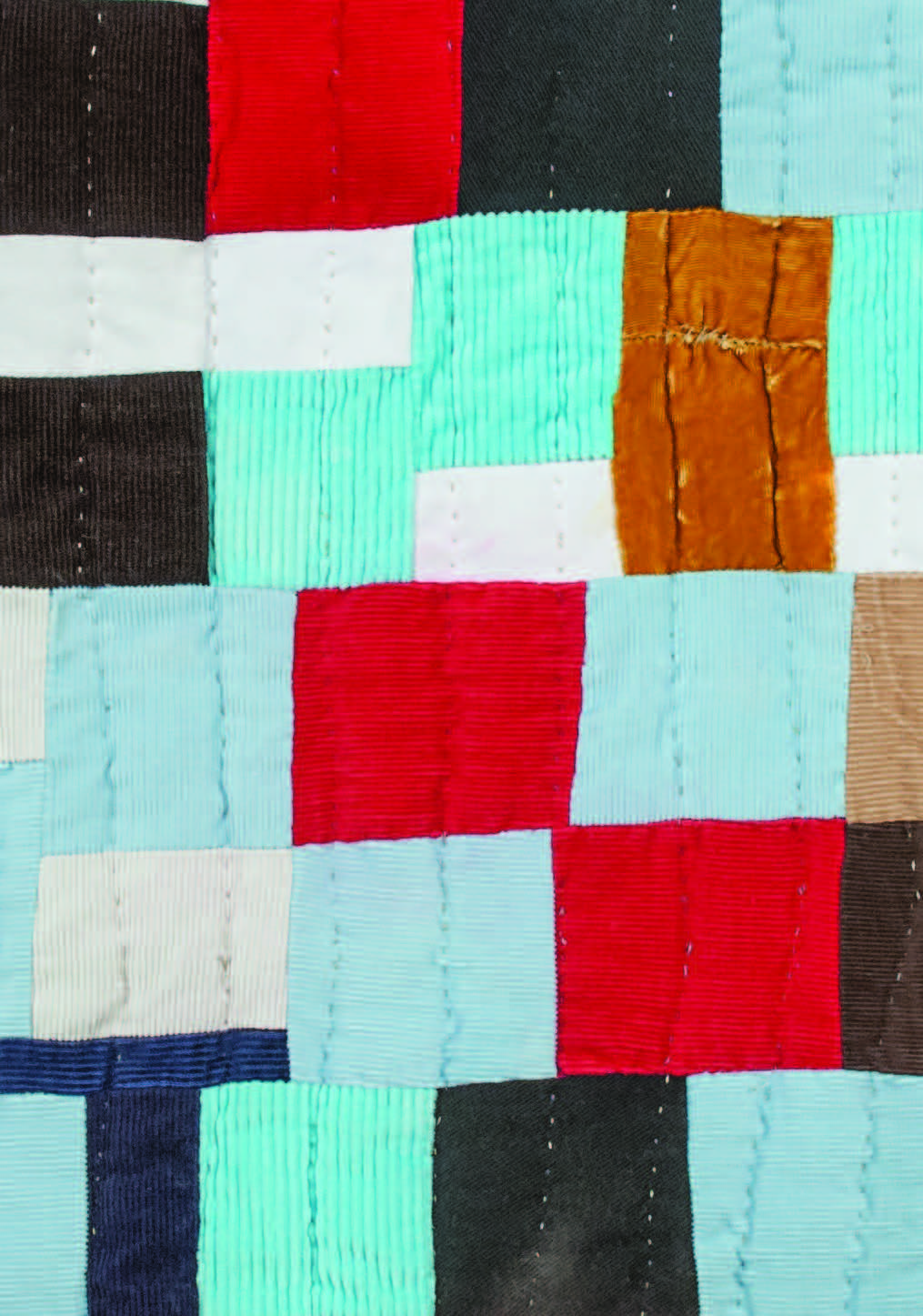 Detail of Blocked Out, with velvet square. Photograph by Blair Clark.