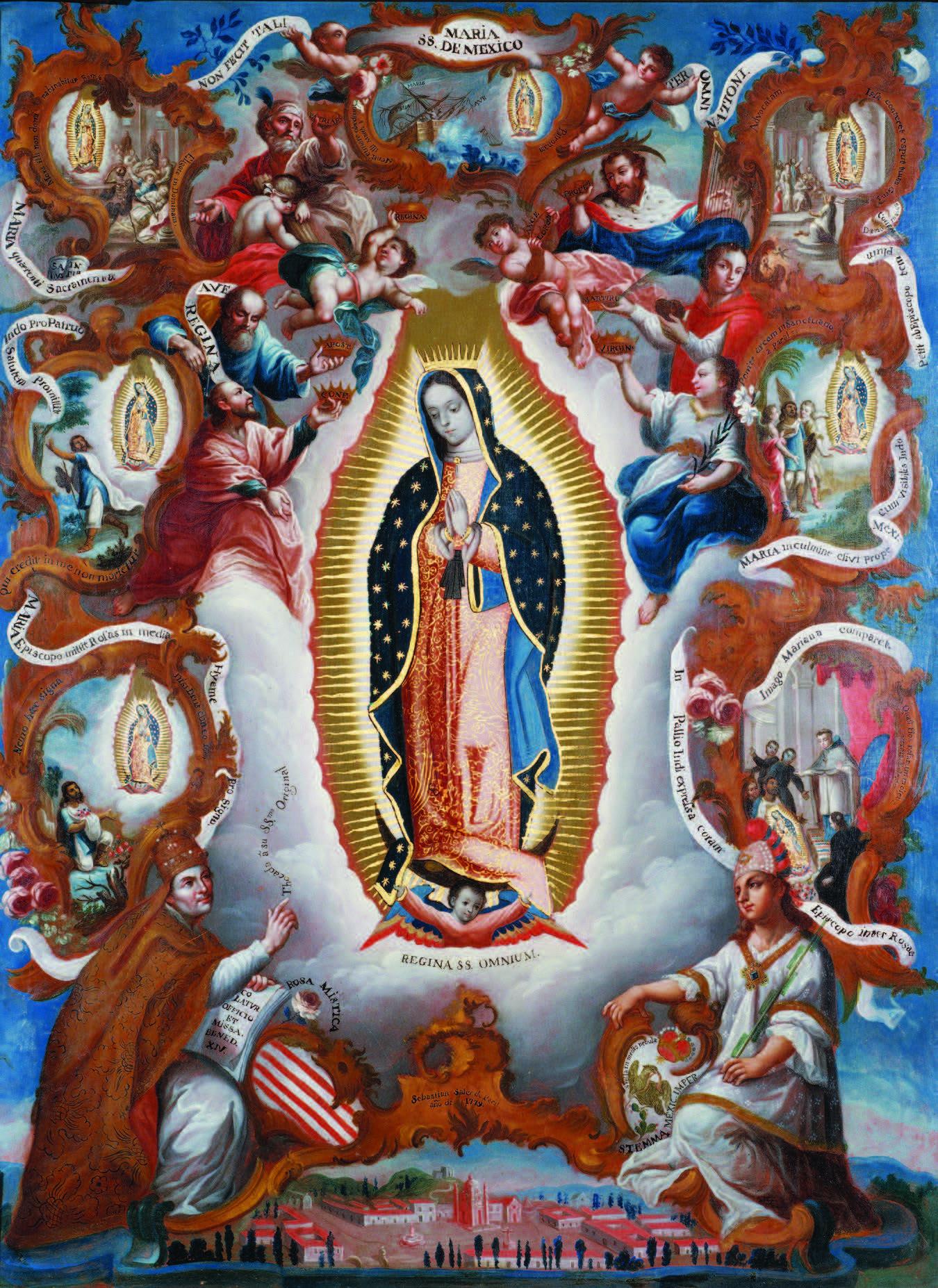 Sebastian Salcedo, Virgin of Guadalupe, 1779. Denver Art Museum Collection: Gift of Charles Francis Hendrie Memorial, 1976.56. Photograph courtesy Denver Art Museum.