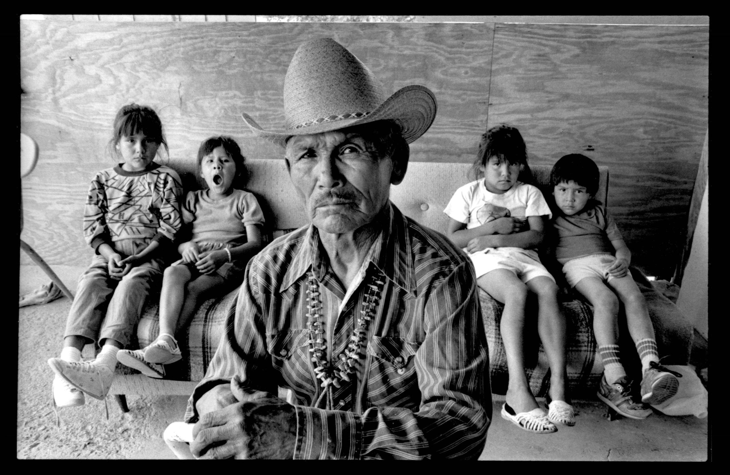 Bennie Arviso, Navajo Code Talker, Smith Lake, New Mexico, 1989.