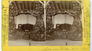Display of coke from Cerillos mining district, Tertio-Millennial Exposition, Santa Fe, New Mexico, 1893. Photograph by Bennett and Brown. Courtesy Palace of the Governors Photo Archives (NMHM/DCA), neg. no. 011002.