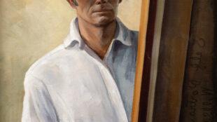 Will Shuster, Self Portrait, 1931. Oil on canvas. 30 × 24 in. Courtesy the family of Will Shuster, Santa Fe, and Zaplin Lampert Gallery, Santa Fe.